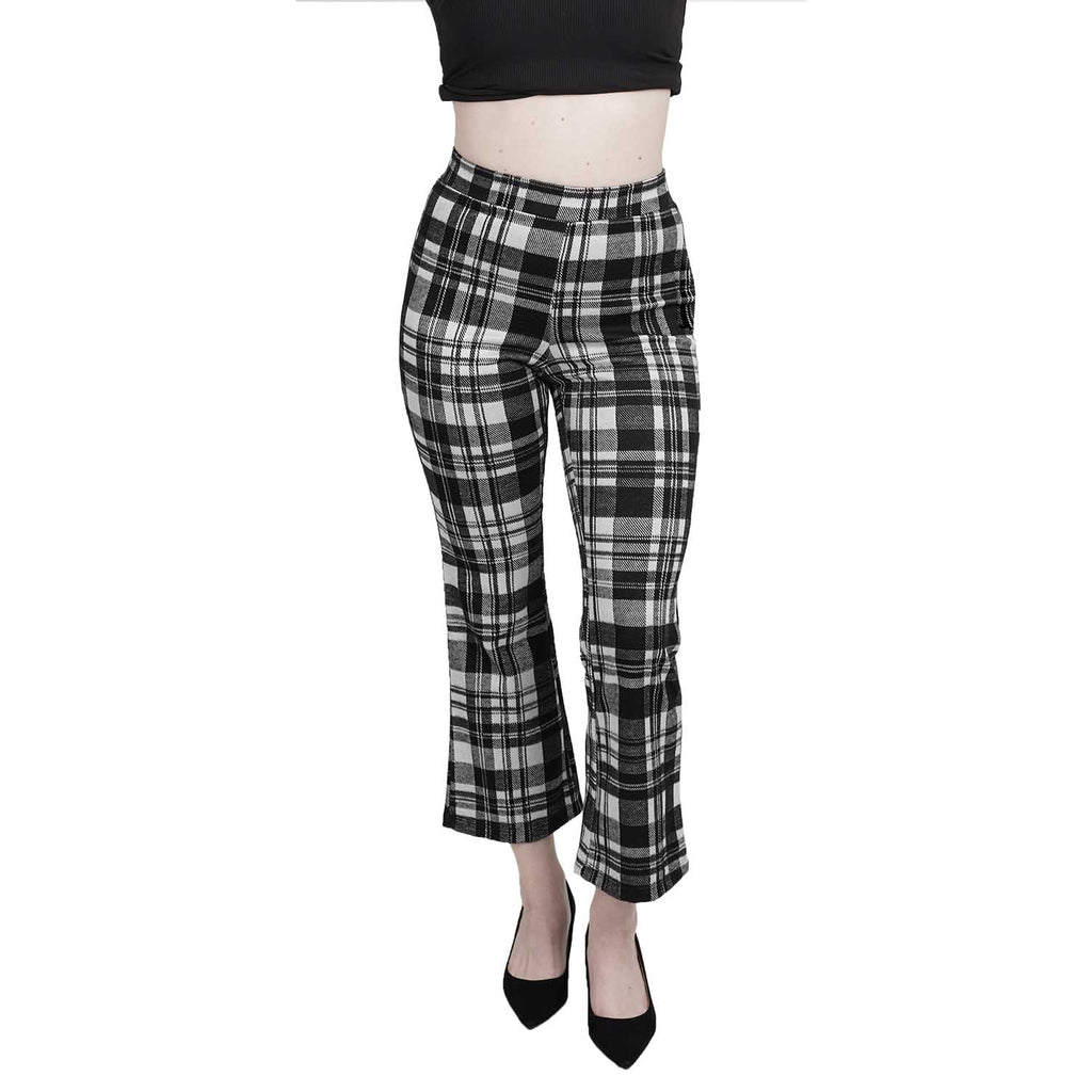 Cropped Fit & Flare Pant