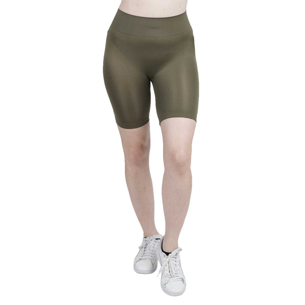 Wide Waist Peached Bike Shorts