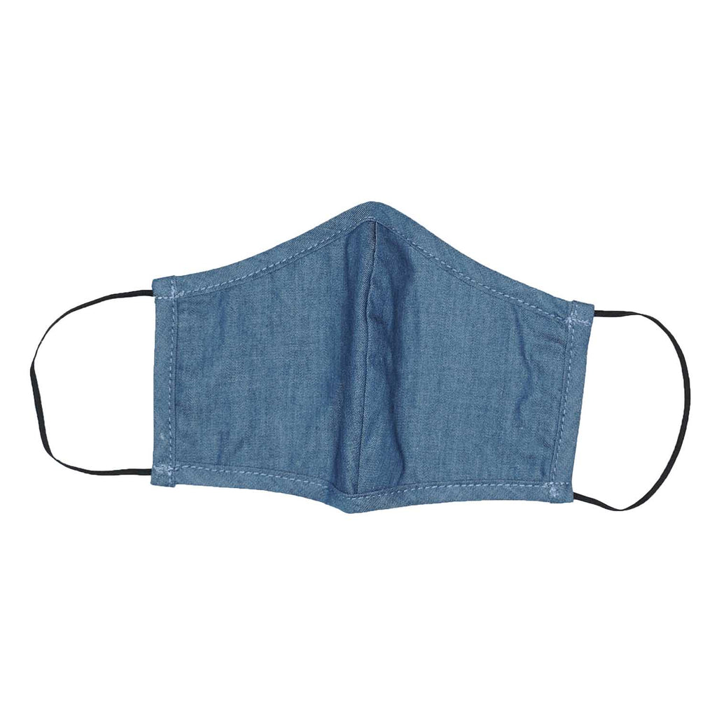 Flat Mask-Blue Chambray