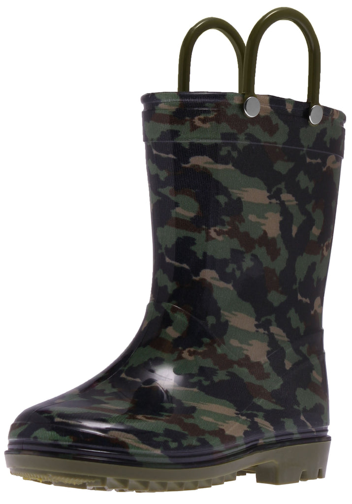 Green Camo Pvc Rainboot
