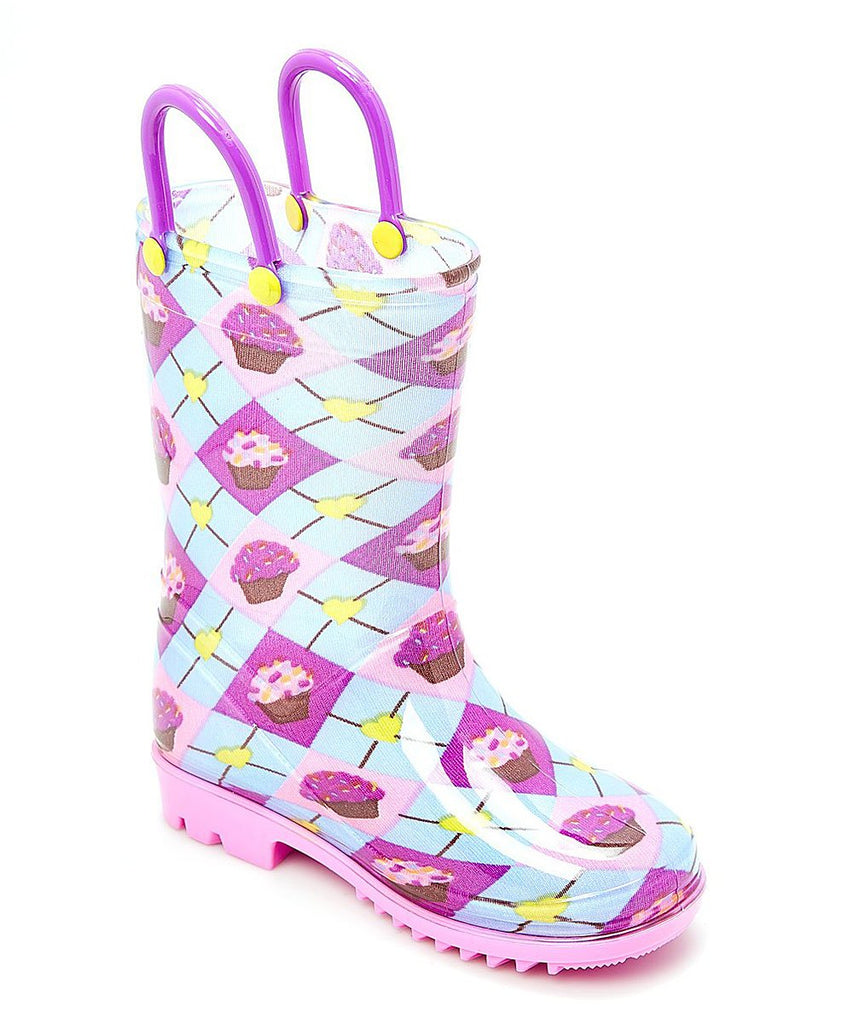 Blue Cupcake Rainboot