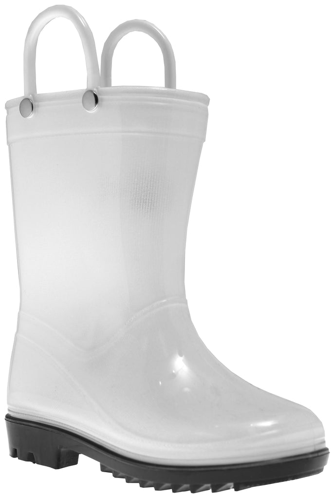 White Pvc Rainboot