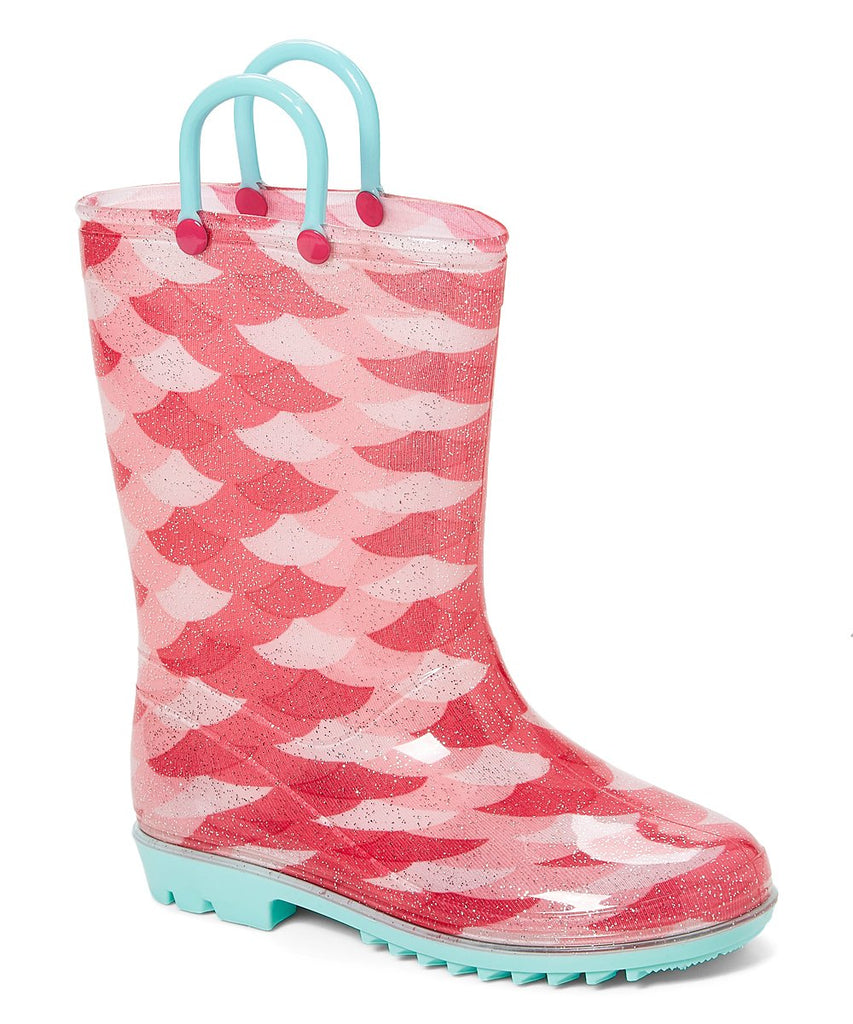 Pink Scales Rainboot