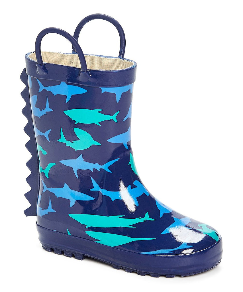 Navy Shark Rainboot