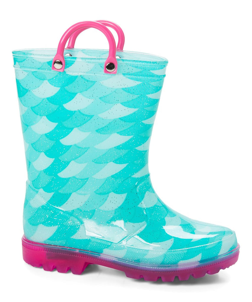 Mint Mermaid Led Rainboot