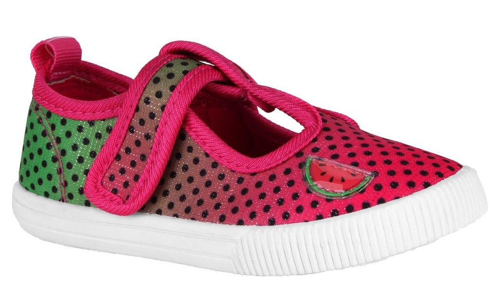 Girls Pink Green Mary Jan Shoes
