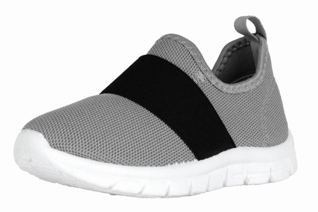 Grey Knit Sneaker Black Elastic