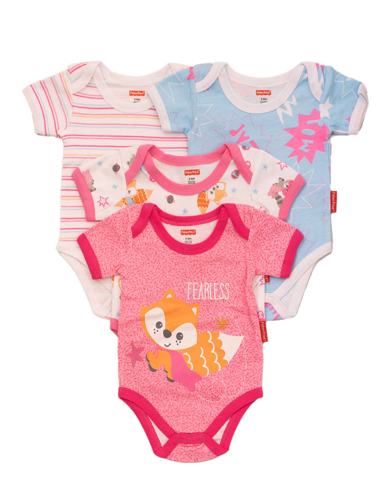 Fisher Price 4 Pack Bodysuits