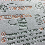 Brown Palace Recipe Cards