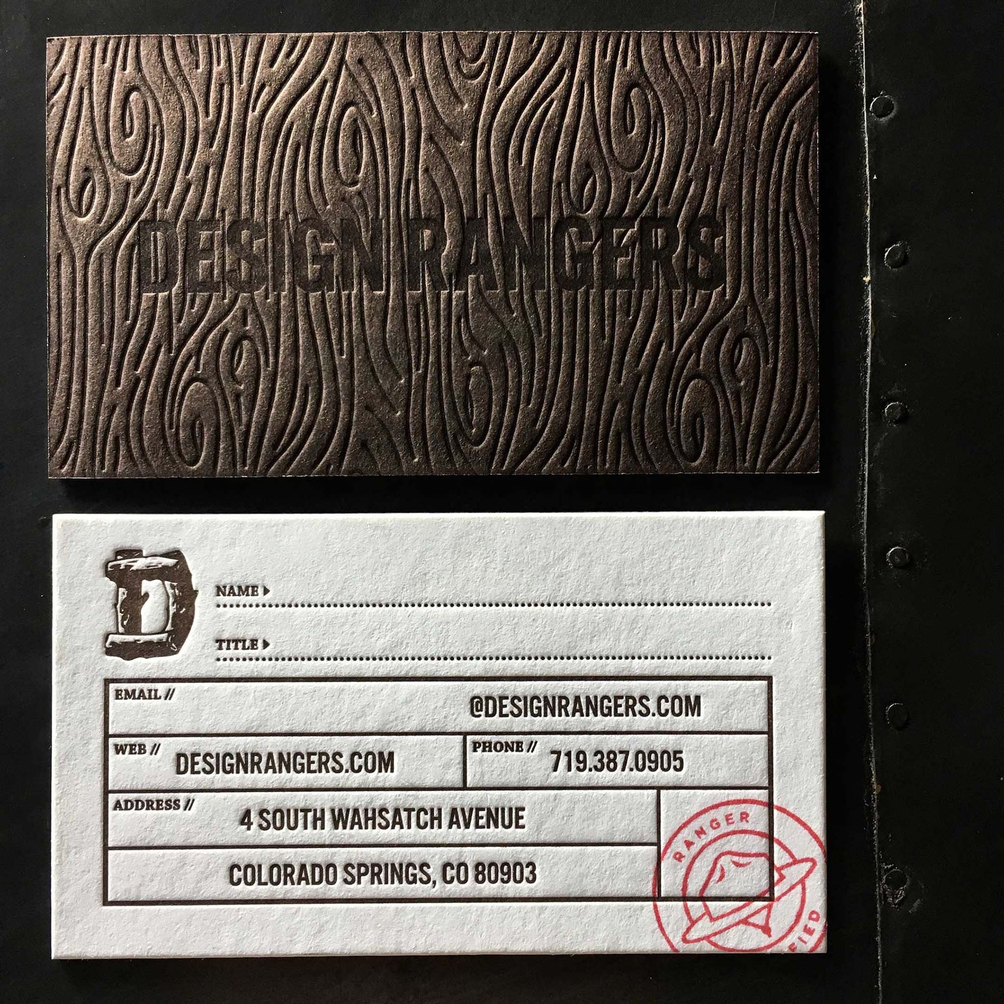 design rangers business card – method madness