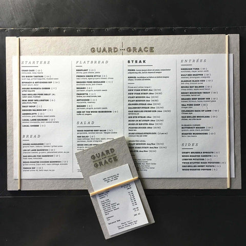 Guard and Grace Menu
