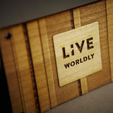 Live Worldly Hang Tag