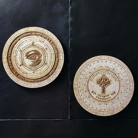 Lost Abbey Wood Coasters