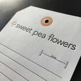 Sweet Pea Flowers Stationery