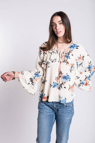 Ivy Jane Ivory Floral Top