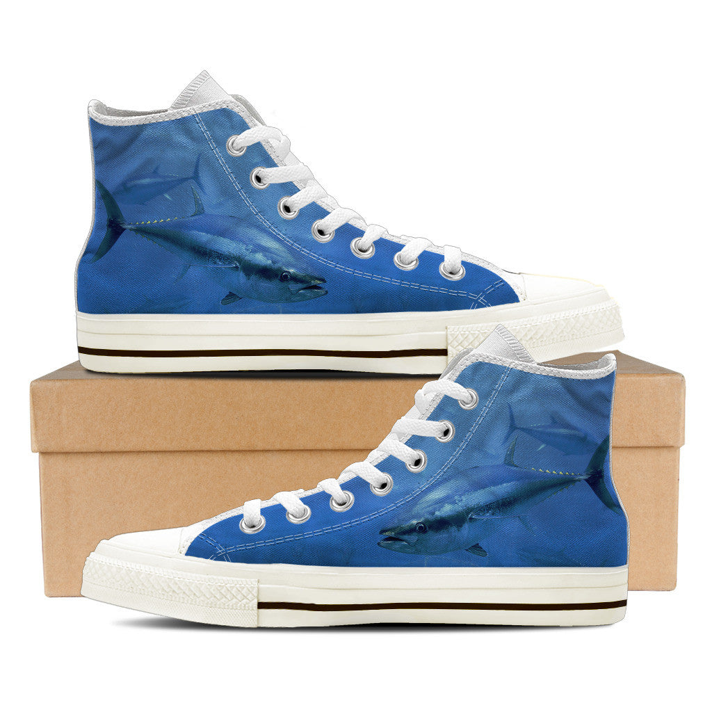 Men's Premium Tuna High-Tops (White) - FREE SHIPPING