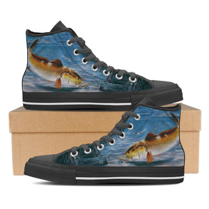 Men's Premium Redfish High-Tops (Black) - FREE SHIPPING