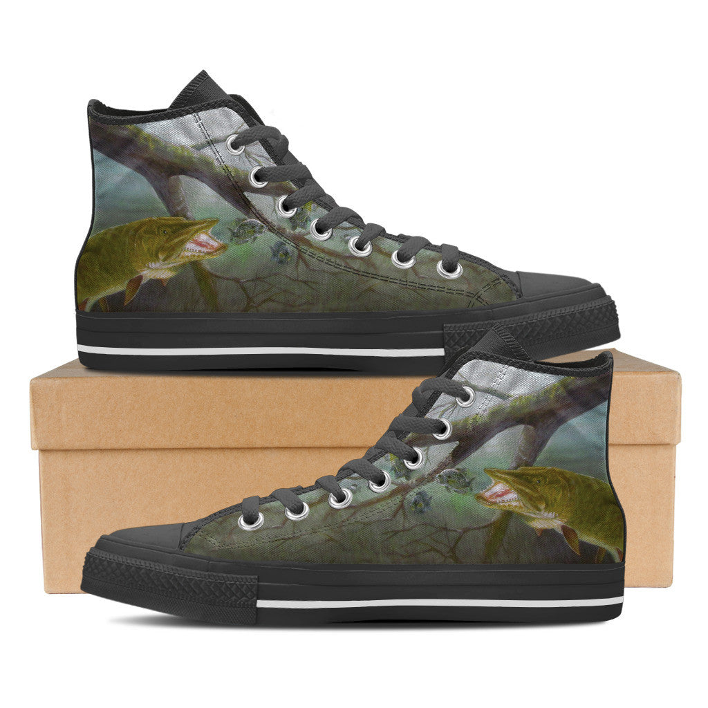 Men's Premium Muskie High-Tops (Black) - FREE SHIPPING