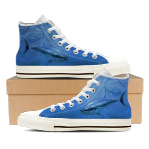 Women's Premium Tuna High-Tops (White) - FREE SHIPPING