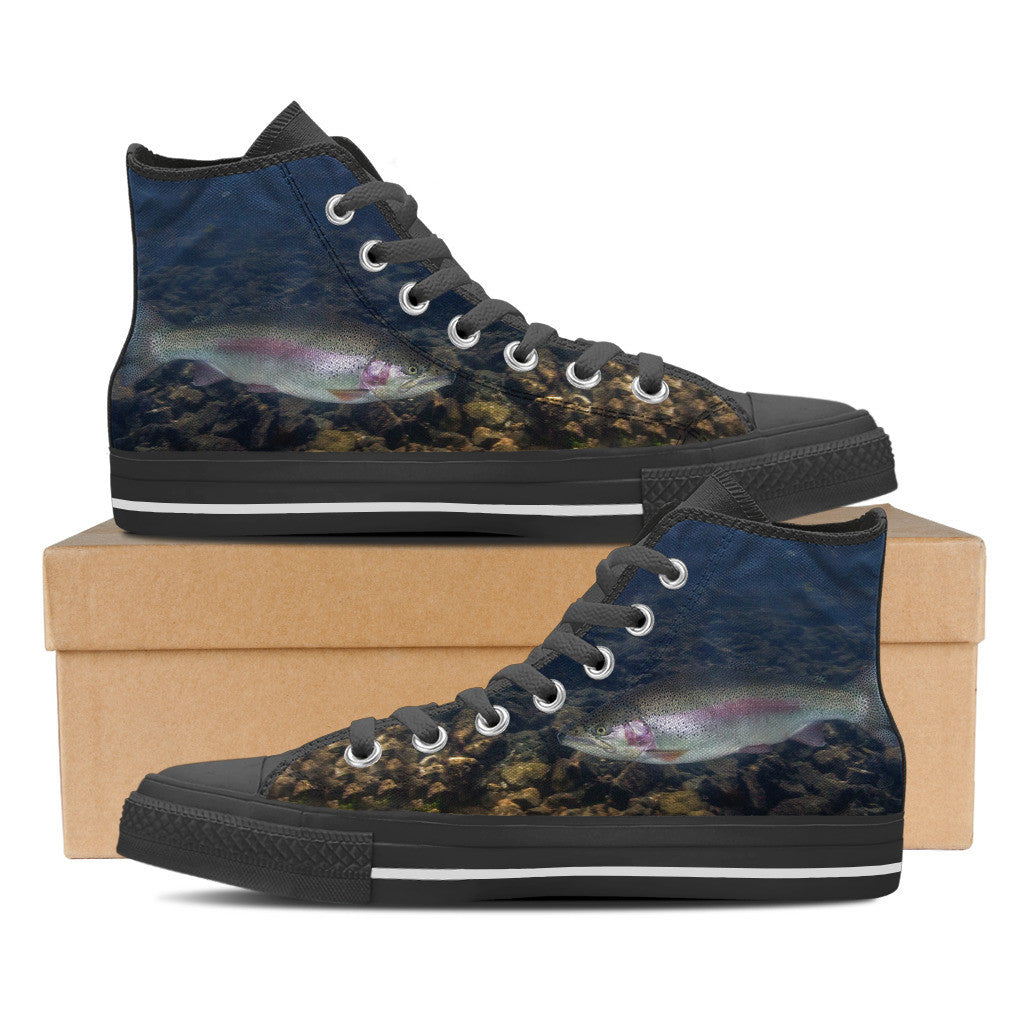 Men's Premium Rainbow High-Tops (Black) - FREE SHIPPING