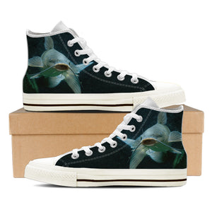 Men's Premium Catfish High-Tops (White) - FREE SHIPPING