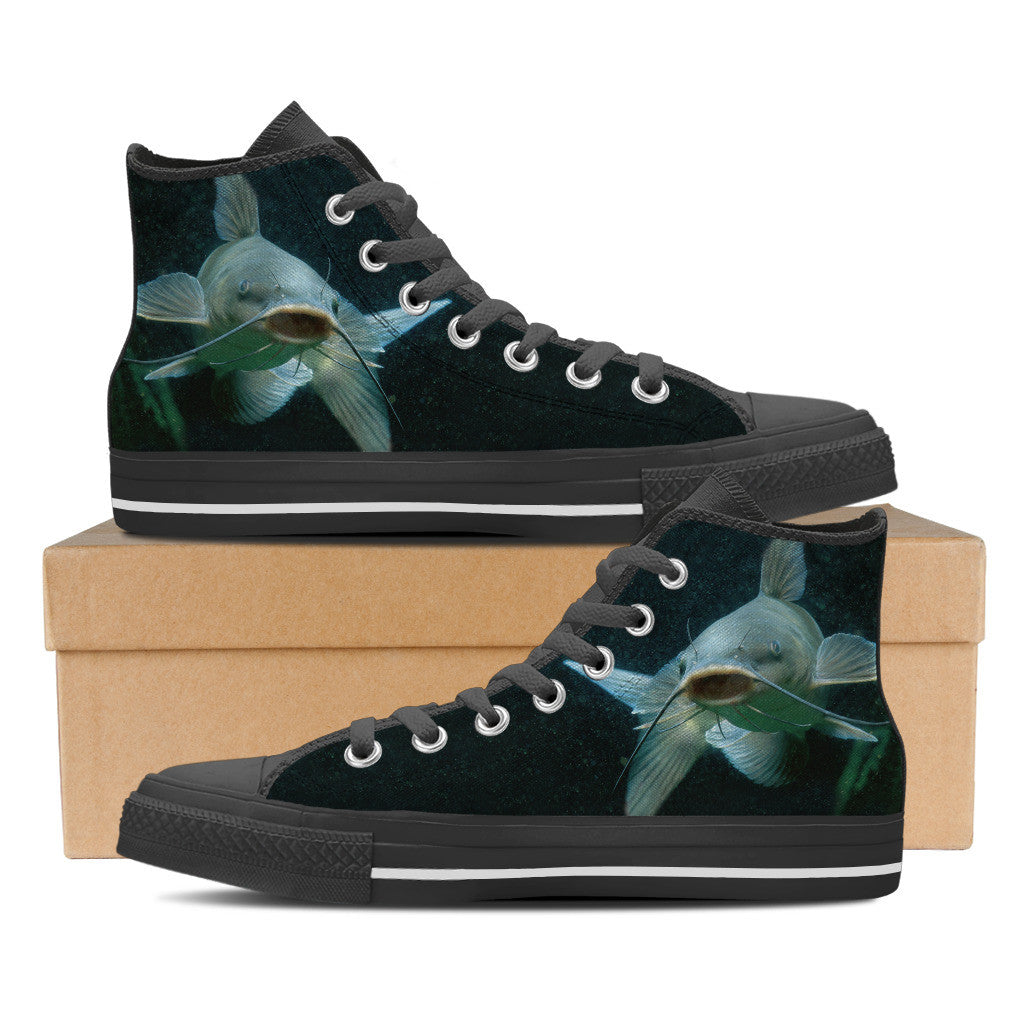 Men's Premium Catfish High-Tops (Black) - FREE SHIPPING