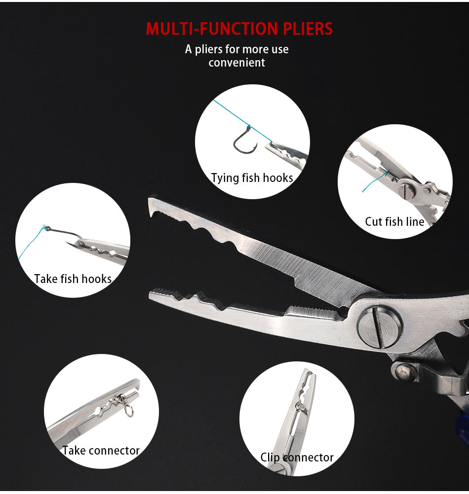 Stainless Steel Multi-Function Fishing Pliers