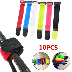 Reusable Fishing Rod Tie Holder Strap - Set of TEN