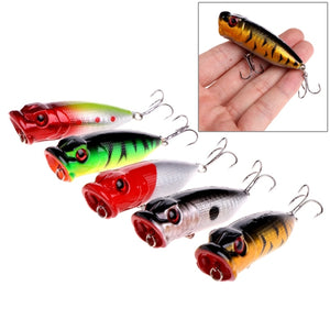 Topwater Poppers - Set Of FIVE Different Patterns