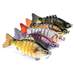 Segmented Swimbaits in FIVE Different Fish Catching Patterns - Lifelike Action