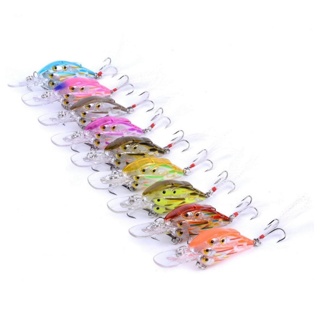 Baitball Style Medium Diving Crankbaits - Set of 9