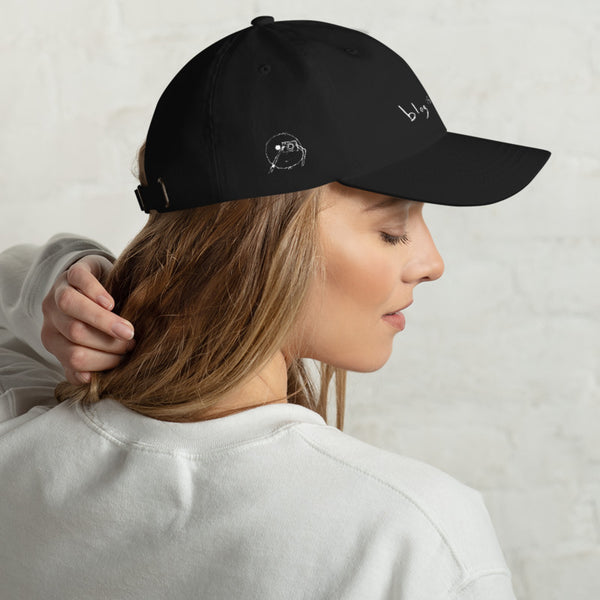 blog is thicc (front and side embroidered dad hat)