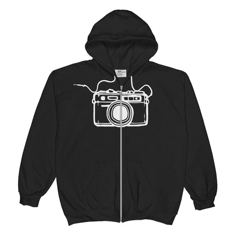 - Camera logo zip-up sweatshirt