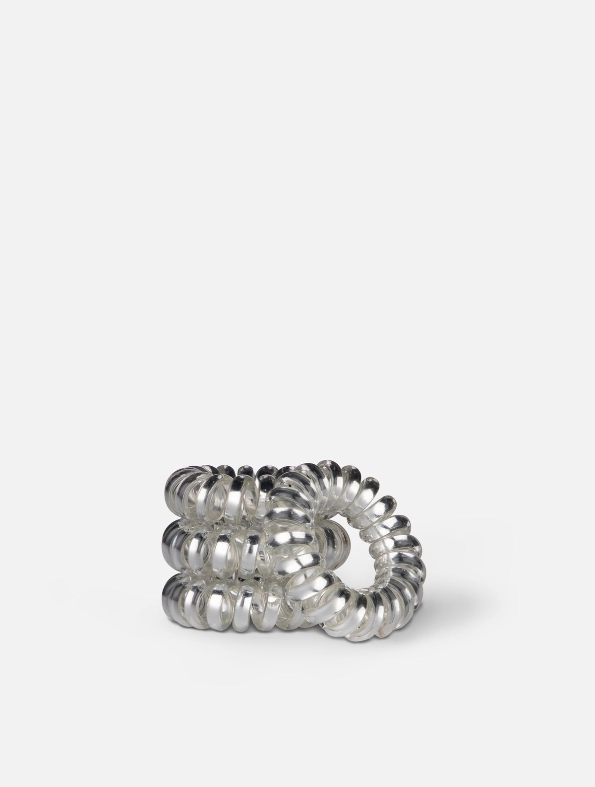 Jeuneora® Metallic Spiral Hair Ties