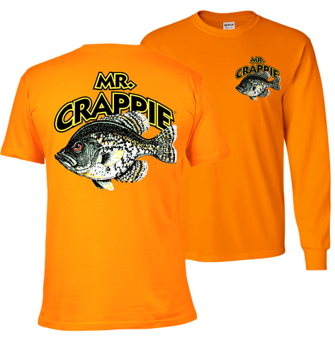 Mr. Crappie Throw Back Shirt (orange)