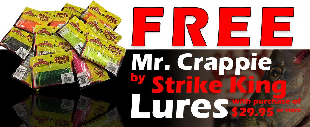 Free Mr. Crappie by Strike King Baits with purchase over $49.95