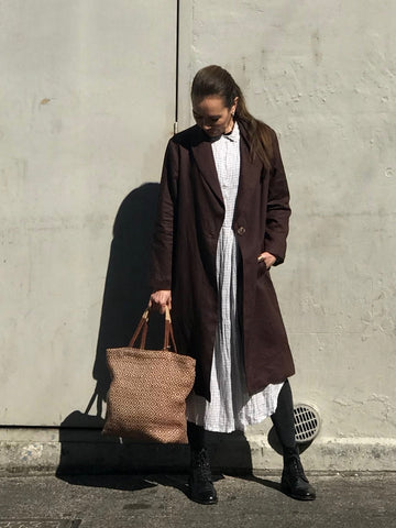 Jiva Linen Catherine  Coat - Chocolate-jivaclothing