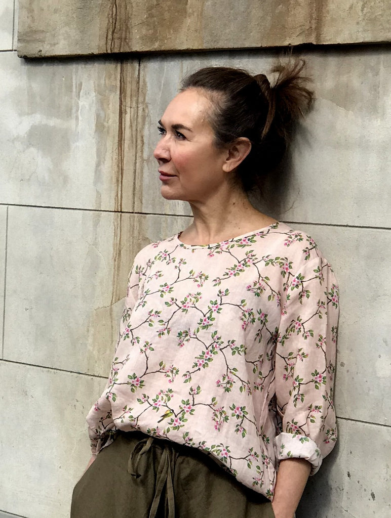 Jiva Maria Shirt - Blossom and Bird-jivaclothing