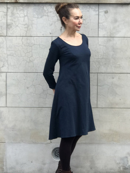 Jiva Maddi Dress- Knit Navy-jivaclothing