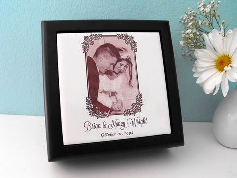 Wooden Keepsake Box Customized With Wedding Invitation Or Wedding Song  Lyrics