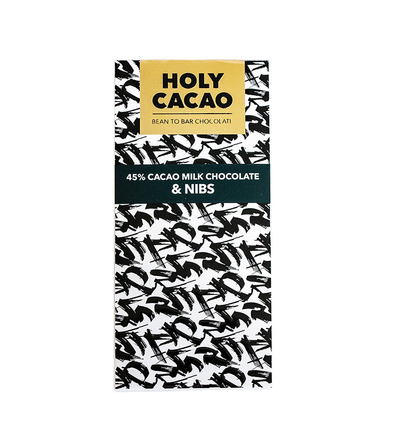 45% Cacao Milk Chocolate - Nibs