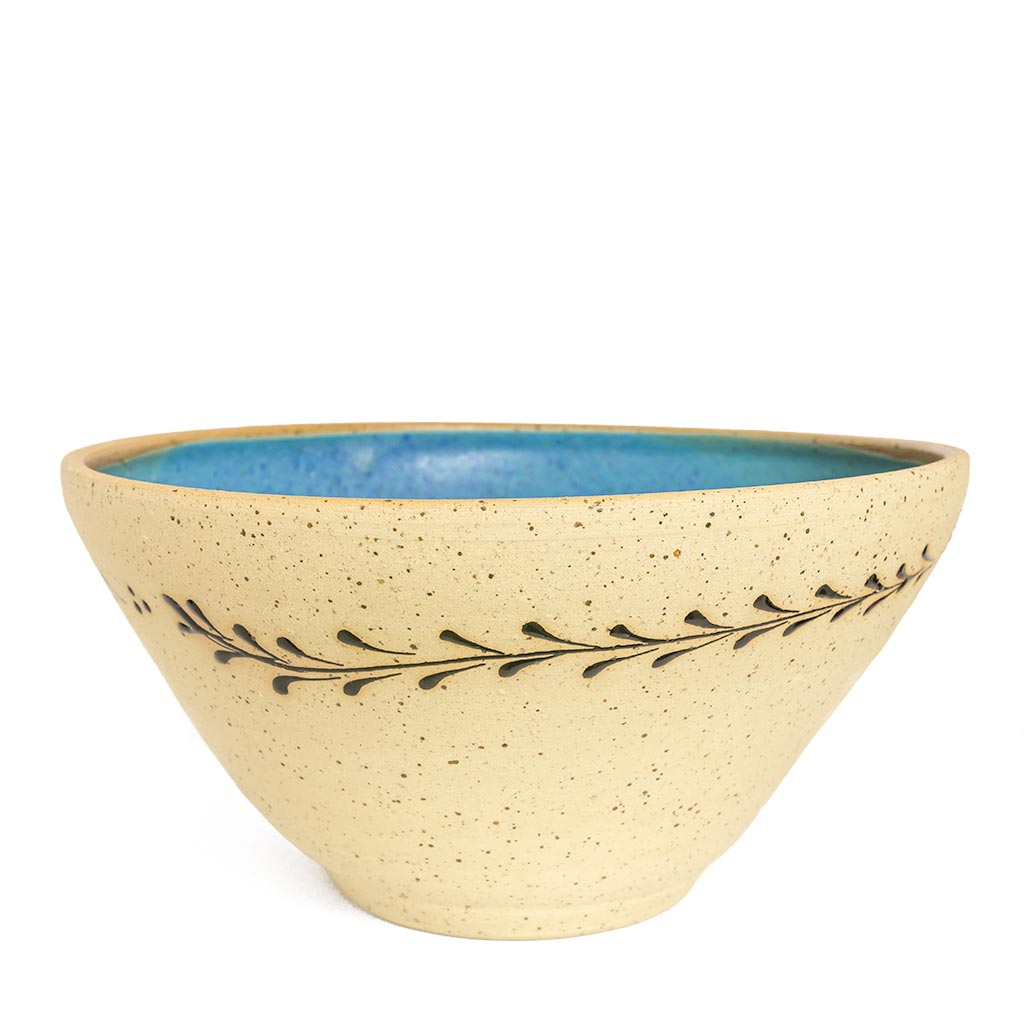 Turquoise Serving Bowl hand made in Israel