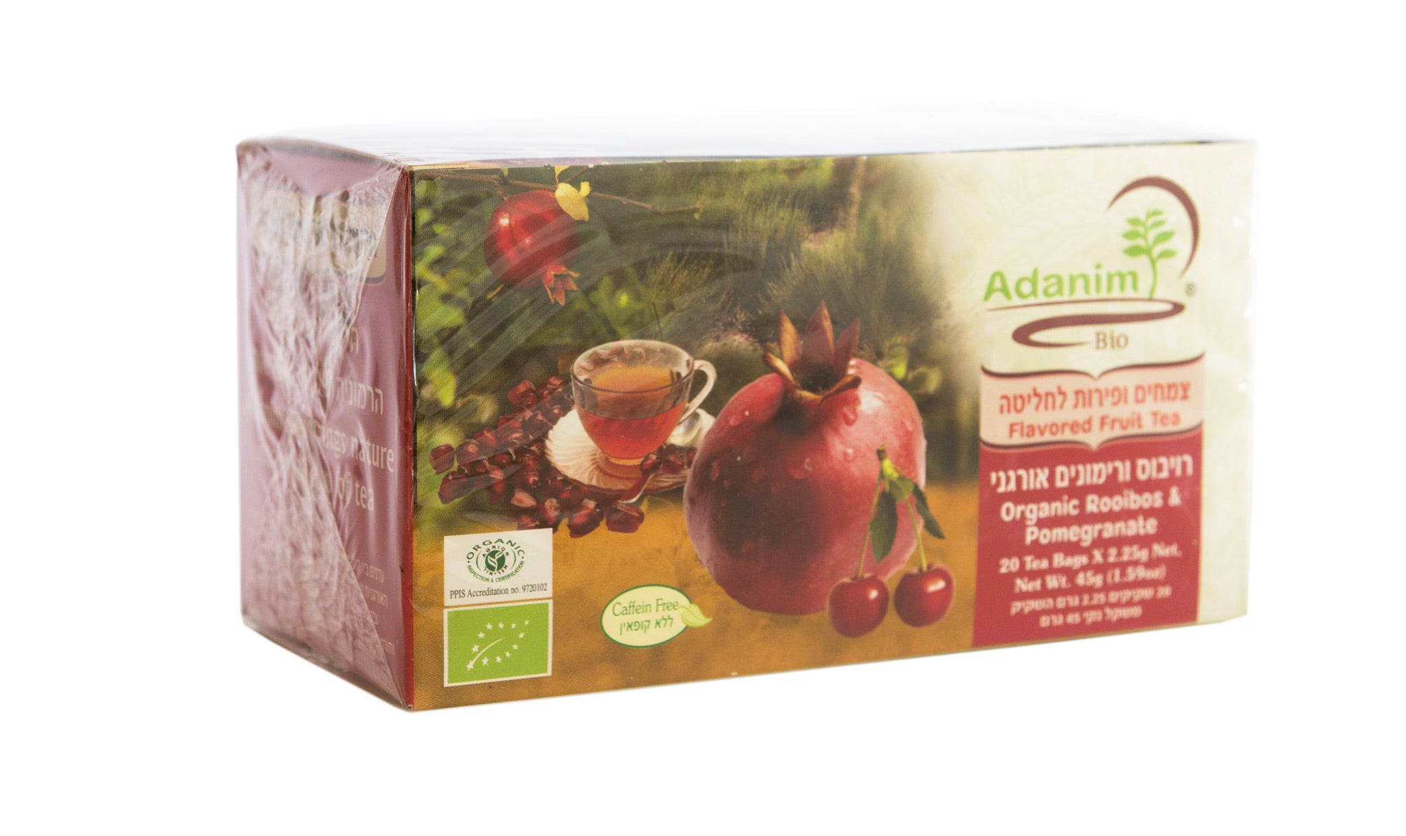 Organic Fruit Tea - Pomegranate and Rooibos - Blessed Buy Israel
