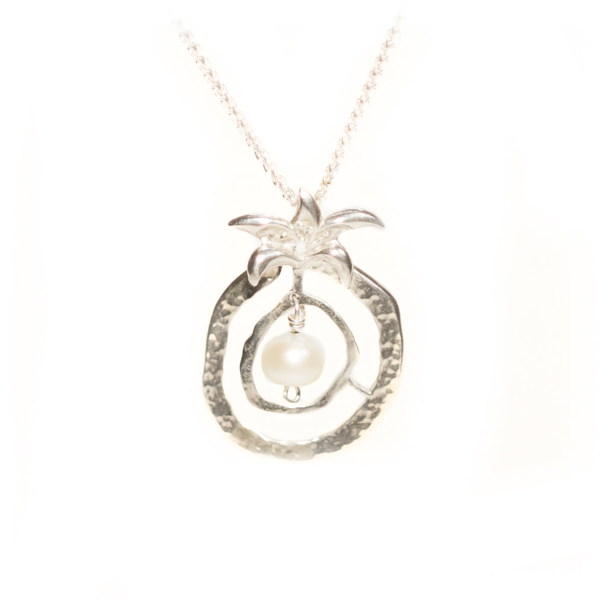 Pomegranate of Abundance Sterling Silver Necklace