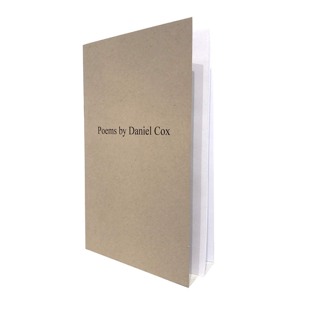 book of poems by Daniel Cox.