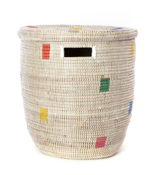 senegal lidded hamper