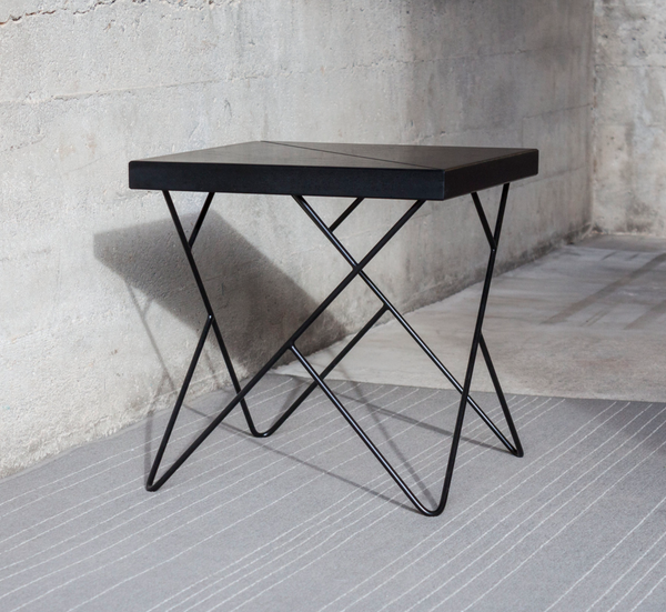 wireframe side table by Quartertwenty