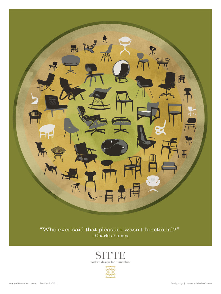 circle of chairs poster