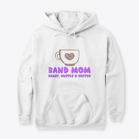 [Band Mom] Heart, Hustle and Coffee - Hoodie