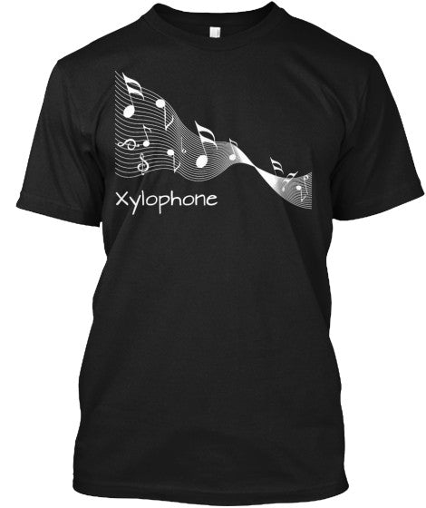 Xylophone Music Ribbon Tee-White Letters